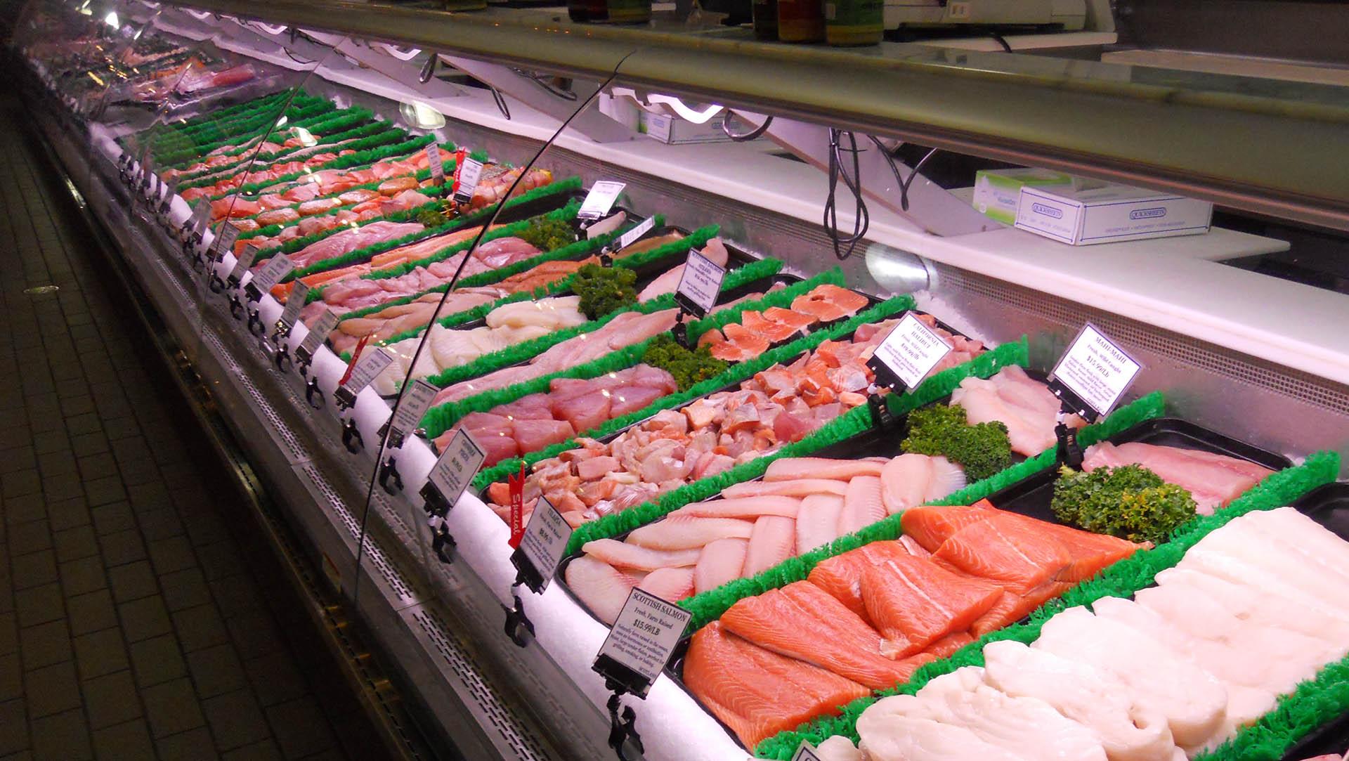 Seafood Case Close Up