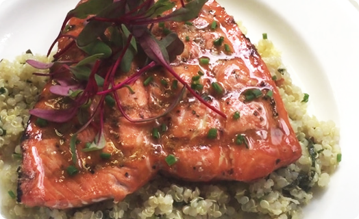 Salmon with SMS Quinoa Salad
