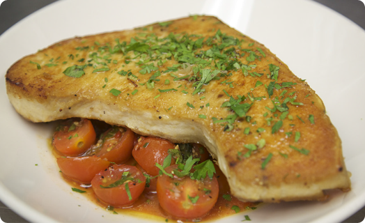 Swordfish Pan Roasted with Sautéed Tomatoes