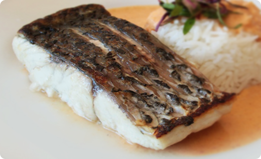 Pan Roasted Barramundi with Curry and Rice
