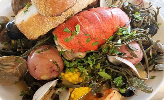 Clam Bake with Assorted Shellfish