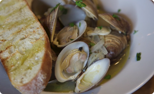 Clams (Littleneck) Steamed with SMS Ultimate Stock
