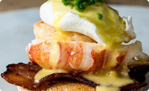 Lobster Benedict with Bacon