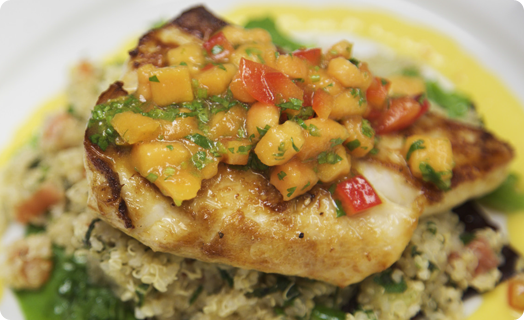 Mahi Mahi with Mango and Papaya Salsa