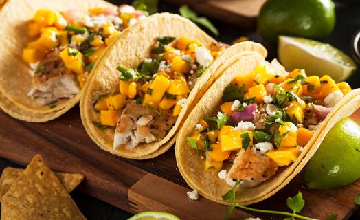 Rockfish Taco with Mango Salsa