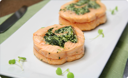 Salmon Roulade with Spinach and Feta