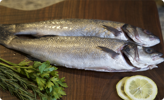 Seabass (European) Baked Whole with Fresh Herbs