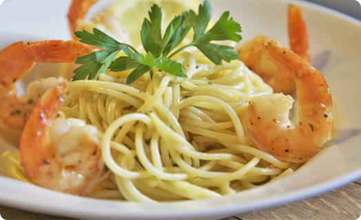 Shrimp Scampi with Spaghetti Pasta