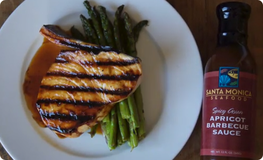 Swordfish with SMS Apricot BBQ Sauce