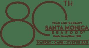 80th Anniversary Santa Monica Seafood Logo