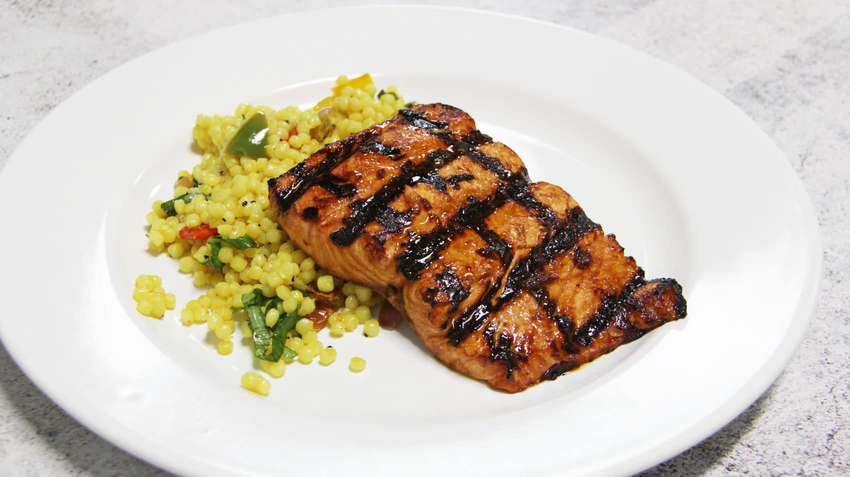Salmon – Sweet & Savory Salmon with Couscous Salad