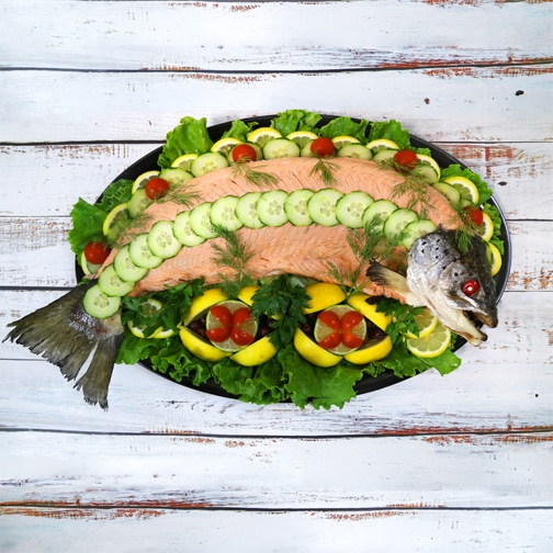 Poached Salmon Whole