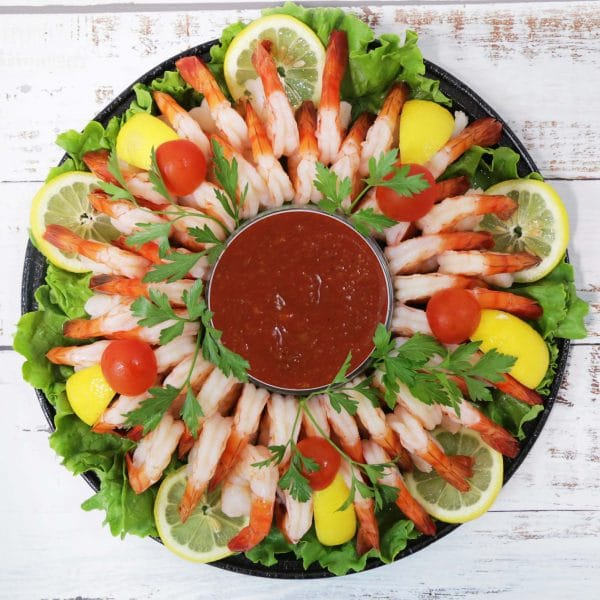 Shrimp Platter Small with Cocktail Sauce