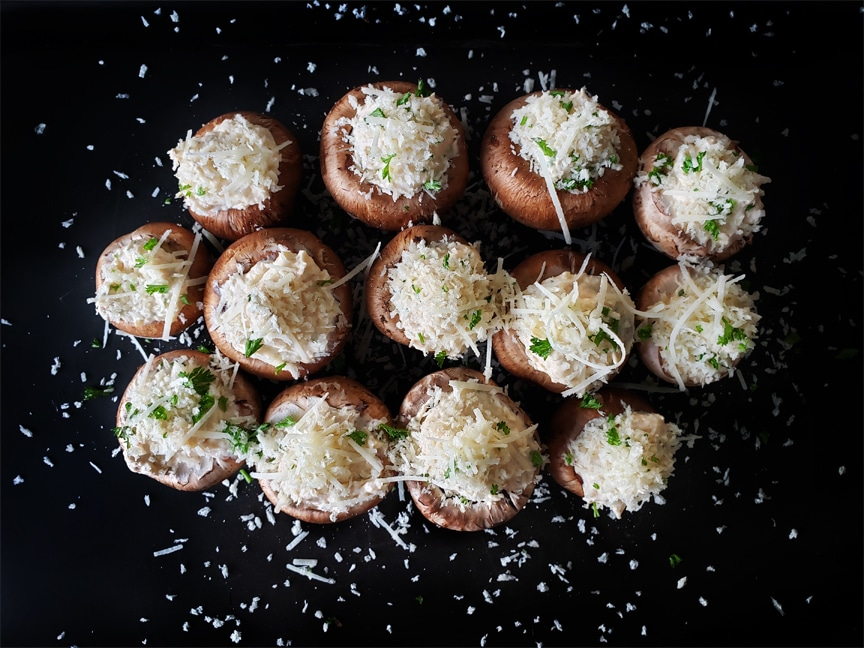 Crab Stuffed Cremini Mushrooms