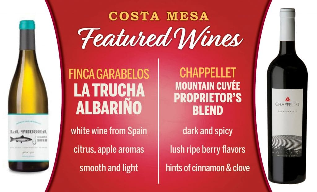 Costa Mesa Featured Wines