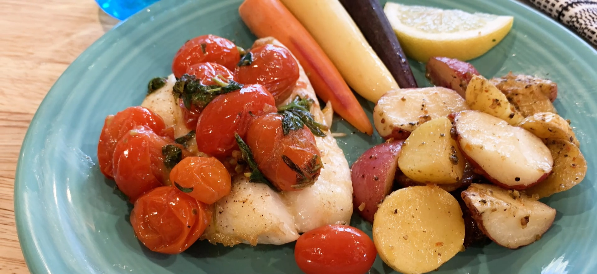 Orange Roughy with Tomato and Basil