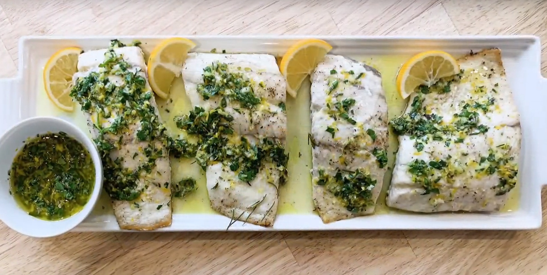 Barramundi with Meyer Lemon Vinaigrette