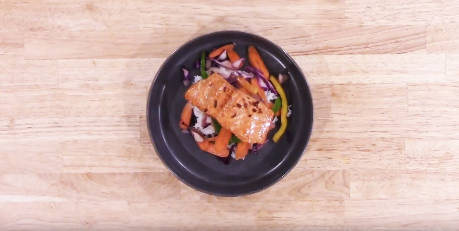 Savory Broiled Salmon with Santa Monica Seafood Poke Dressing