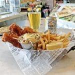 halibut fish and chips st archer blond ale sm cafe
