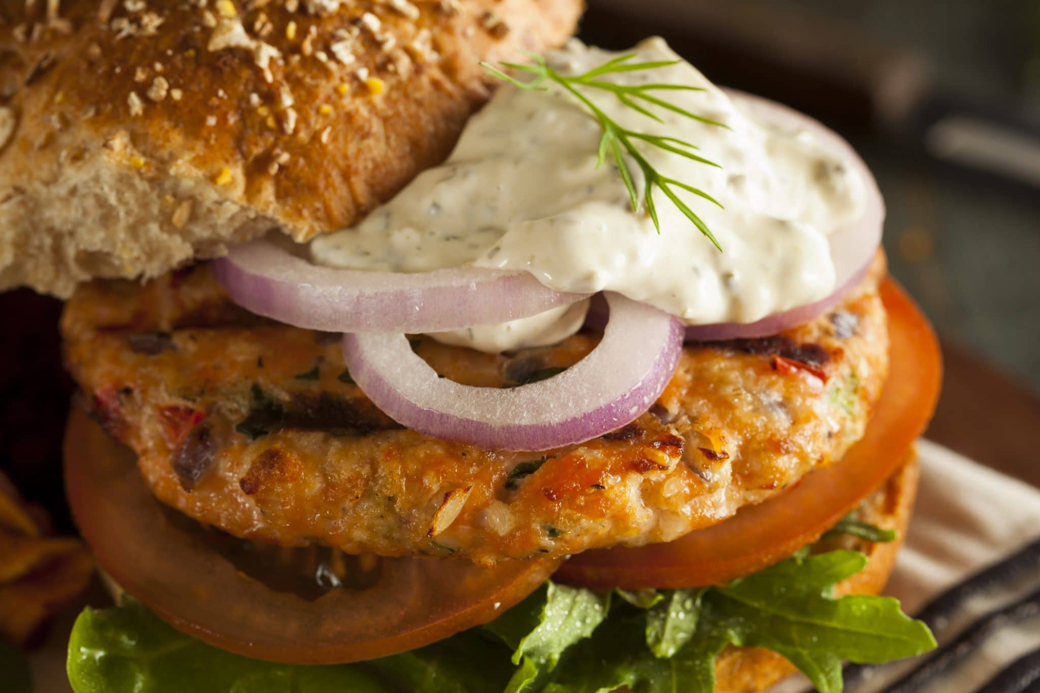 Grilled Spicy Tuna Burger