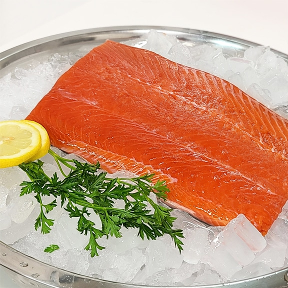 sockeye salmon portion
