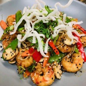 stir fry argentinean shrimp
