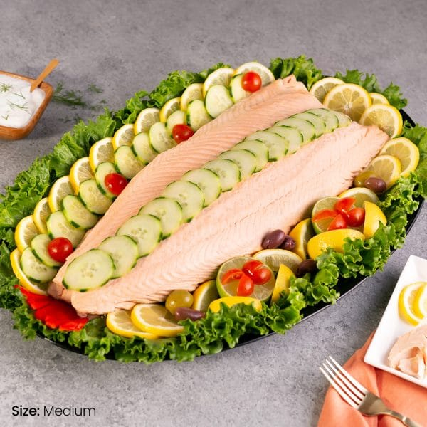 Poached Salmon Fillet Platter