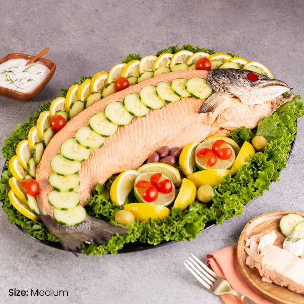 Poached Whole Salmon Platter