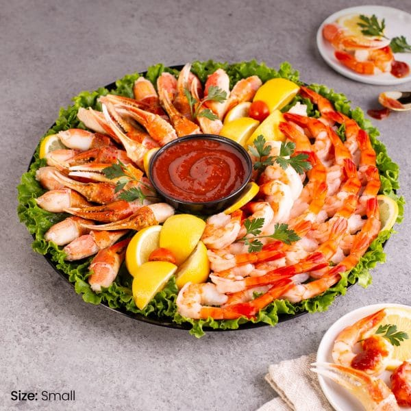 Snow Crab Claws and Shrimp Platter Small